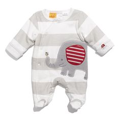 Pumpkin Patch 'Elephant' Padded Footie (Infant) (1.175 RUB) ❤ liked on Polyvore featuring baby, baby boy, baby clothes, baby stuff and kids