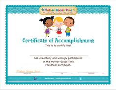 Happy graduation season! Mother Goose Time members, head over to Member Resources http://bit.ly/1Dxt1Dn for your official Mother Goose Time Graduation Certificates!