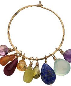 Calico Juno Adjustable Gold Siren Hoop Earrings