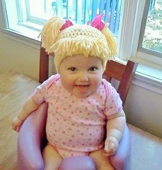 Cabbage Patch Knit Hat. Gonna have to hire the crochet cousin again