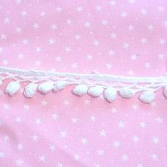 Small Crocheted Pompom Lace Yard #craft