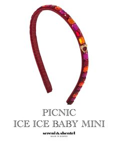 Headband by Sereni & Shentel 2012 Picnic Collection - Ice Ice Baby Mini. Made in Borneo.