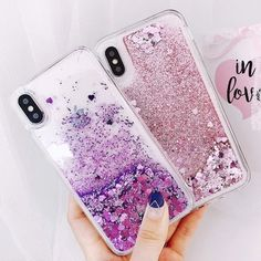 Liquid Water Case For Iphone X Dynamic Quicksand Glitter Bling Love Heart Glitter Phone Case Soft Tpu Case For Iphone X Cover Suitable For Men And Women Of All Ages In All Seasons Rhinestone Cases