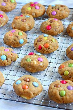 Suklaapossu: Pehmeät maapähkinävoi-suklaahippukeksit ❤