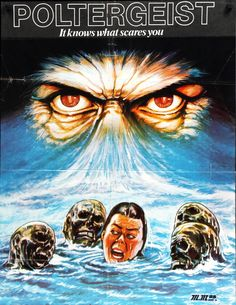 Poltergeist (1982) Horror Movie Posters, Movie Poster Art, Concert Posters, Horror Movies, Zombie Movies, Music Posters, Poltergeist 1982, Scary Snakes, Creepy
