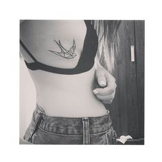 My origami bird tattoo