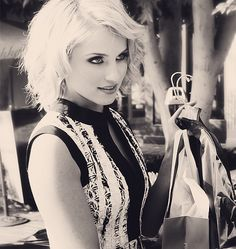 love the make up,cut and style. In another life I wanna come back as Diana Agron