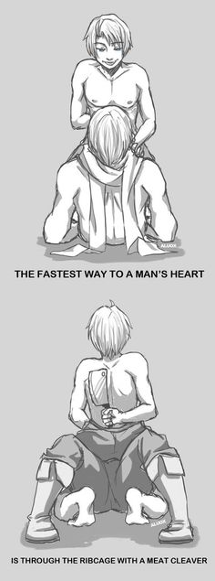 A way to his heart by iAlly on DeviantArt<< Well, that escalated quickly...