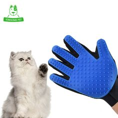 True Touch Deshedding Brush Glove for Cats Pet Combing Glove for Animals Pet Grooming Dogs Cleaning Brush Hair Glove  Price: 3.36 USD