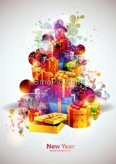 40_smopic.com_Vector 2013 New Year mall promotional posters cover background design template illustrator EPS file free download