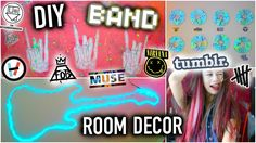 DIY BAND Room Decor - Tumblr Ideas you NEED to try!