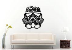 Star Space Universe Future Warrior Helmet Wall Decal Vinyl Sticker Mural Room Decor L1166