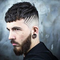 Cool Hair Lines - Best Hair Designs For Men: Cool Fade Haircut Designs For Guys and Boys Combover Hairstyles, Hairstyles Haircuts, Updos Hairstyle, Greaser Hairstyle, Mullet Hairstyle, Hairstyle Ideas, Trendy Hairstyles, Wedge Hairstyles, Brunette Hairstyles