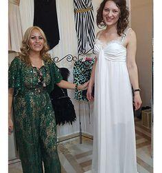 A beautifull romantic white dress perfect for a beach front wedding in the summer, created by SinebySeila Designer Shop - www.sinebyseila.com