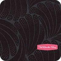 Downton Abbey Black The Downton Flourish YardageSKU# 7330-GK