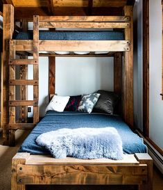 Cabin Bunk Beds, Queen Bunk Beds, Bunk Bed Rooms, Loft Bunk Beds, Bunk Bed Plans, Modern Bunk Beds, Bunk Beds With Stairs, Kids Bunk Beds, Rustic Bunk Beds