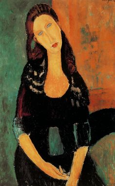 Amadeo Modigliani – Portrait of Jeanne Hebuterne