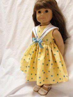 !!LIKE!! Yellow Pamela Dress - (45) Dresses - Doll Clothes by Jane Fulton