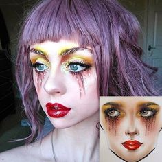 Amazing recreation of @milk1422's face chart by @kimodoll using #limecrime Venus 2 Palette, 'Lunar Sea' Liquid Liner, and 'Glamour 101' Unicorn Lipstick  Check out both of their IG's for creative & unique #inspo! #venus2 #unicornlipstick