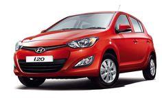 Red new Hyundai i20