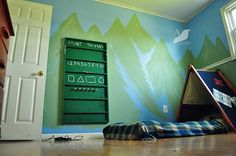 tent bed/camping bedroom, too cute for little boys
