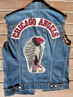 "Nostalgia on Wheels: 1960's ""Chicago Angels"" MC Gang / Club Levis ""E"" Vest on Ebay"