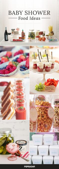 Nibbles and Noshes for your baby shower.