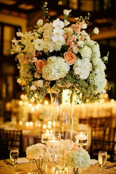 Topiary Style Centerpiece | photography by http://www.kristynhogan.com