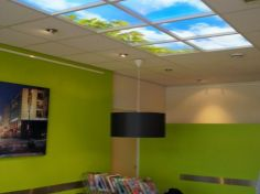 Dutch company Lumick designs lit panels with nice images, which give a daylight impression