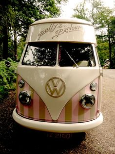 VW ice cream van. So awesome! Baskin Robin COlors... Volkswagen Bus VWBUS | re-pinned by http://www.wfpcc.com/palmbeachrealestate.php