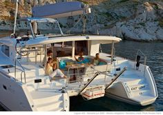 Lagoon 400 Catamaran Yacht Rental with Web's Favorite Charter Sailing Cruises, Sailing Catamaran, Best Yachts, Luxury Yachts, Catamaran Design, Sailing Greece, Living On A Boat, Sailing Holidays, Boats