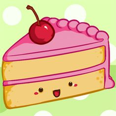 Cute food with faces are adorable, no matter how you slice it! You can use these step-by-step instructions on how to draw a cute slice of cake...