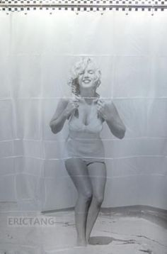 Brand New Marilyn Monroe Bathroom Fabric Shower Curtain Free 12 Hooks