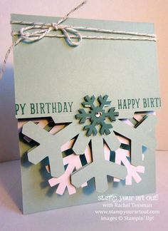 A winter birthday pocket card made with the Simply Snowflake Paper Pumpkin kit and the Occasions Catalog's B.Y.O.P stamp set… #stampyourartout #stampinup - Stampin' Up!® - Stamp Your Art Out! www.stampyourartout.com