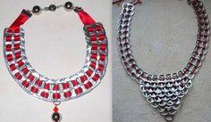 Pop-tab collar and bib necklace