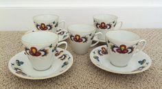 Vintage Porsgrund Farmers Rose tea set