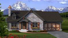 Floor Plan AFLFPW77255 is a beautiful 1518 square foot  Ranch  home design with 2 Garage Bays