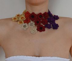 Statement crochet wire necklace Special price Crochet by GlamCro
