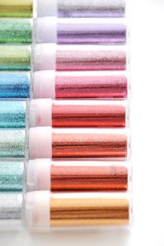 Glitter! i wanna buy every single martha stewart glitter and just put it on a shelf to look at.  seriously.
