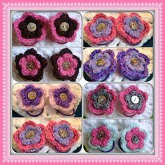 Hand Crochet Flower Hair TiesPony Tail by OnceUponACraft4U on Etsy, $4.75