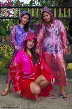 Pink Raincoat, Plastic Raincoat, Plastic Pants, Imper Pvc, Rain Bonnet, Transparent Raincoat, Plastic Mac, Pvc Coat, Latex Girls