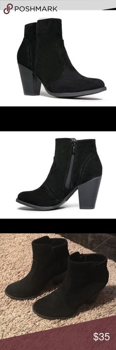 Breckelles heather black bootie sz. 7.5 Brand new with box!! Breckelles heather black bootie sz. 7.5 These have never been worn. Classic black bootie that can go with any outfit. Breckelles Shoes Ankle Boots & Booties