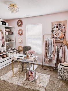 Spare Room Closet, Home Office Closet, Closet Bedroom, Bedroom Decor, Spare Room Office, Glam Closet, My New Room, My Room, Sala Glam