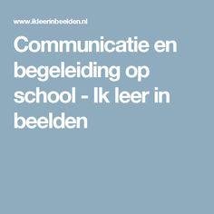 Communicatie en begeleiding op school - Ik leer in beelden