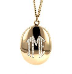 14K #Gold ( #yellow, #white or #pink) or 18K #Gold #Monogram #Locket w/ #Diamonds, contains 2-4 #pictures @ jennifercreel.com