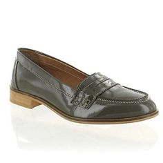 Grey Patent Leather Loafer - Flat shoes - Shoes & boots - Women -