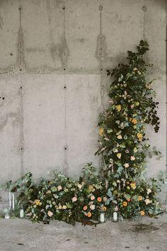 Swallows& Damsons floral installation Design Sponge