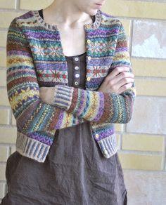 pattern 'Orkney' by Marie Wallin and knitted in Rowan Felted Tweed DK… Fair Isle Knitting Patterns, Fair Isle Pattern, Knitting Designs, Knit Patterns, Rowan Knitting, Norwegian Knitting, Hand Knitting, Tejido Fair Isle, Punto Fair Isle