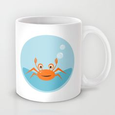 Little crab under the sea mug on society6 by Limitation Free #mug