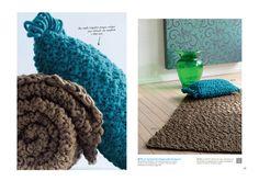 Tapis à tricoter en laine Salsa